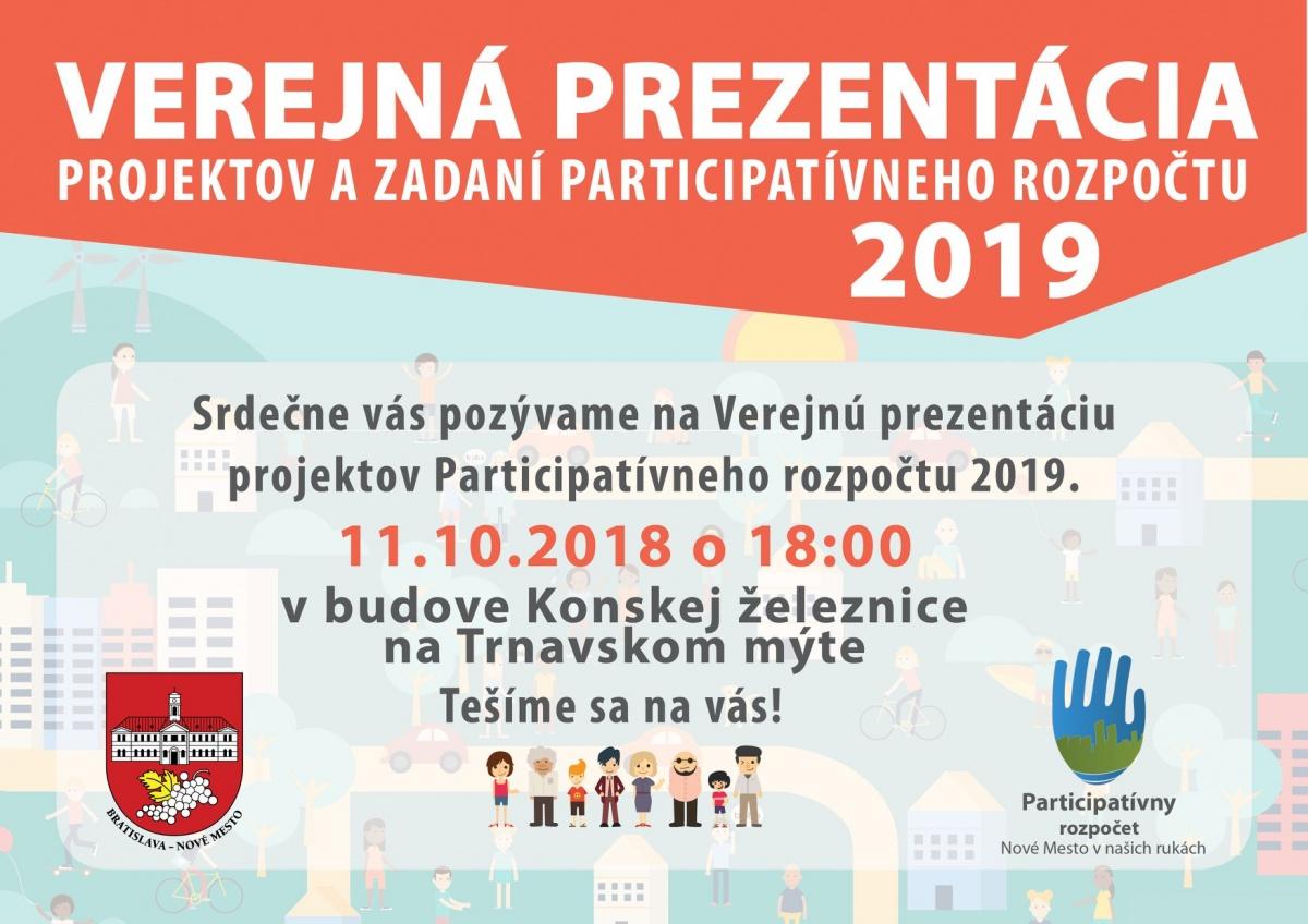 1788a06e1 Pozývame vás na Verejnú prezentáciu projektov Participatívneho rozpočtu  2019. Vo štvrtok 11. októbra v Konskej železnici